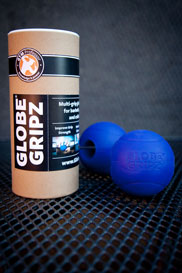 Globe Gripz for barbells, dumbbells, and cable handles